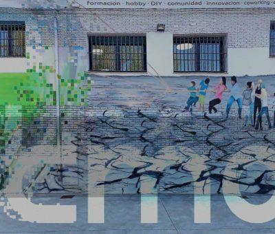 Fachada Fab Lab León y logo fundación tMA